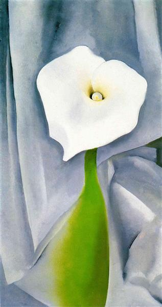 Calla Lily on grey par Georgia O'Keeffe en 1928