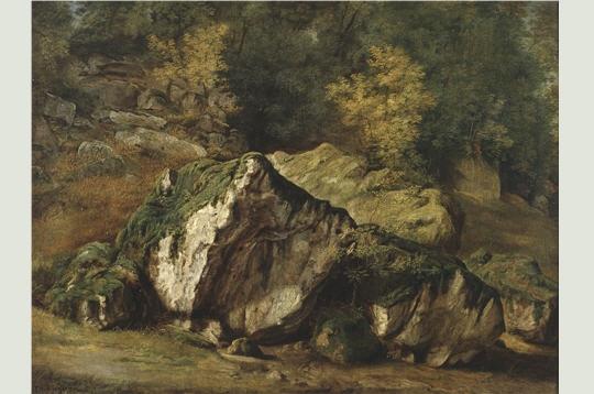 Etude de rochers peint par Théodore Rousseau en 1829
