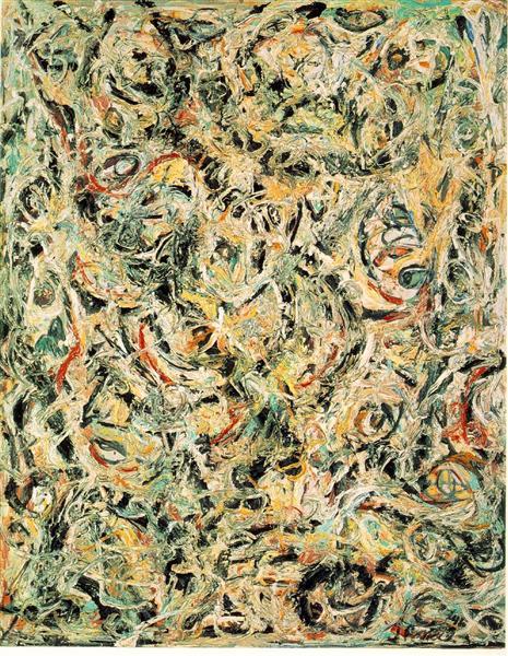 Eyes in the Heart de Jackson Pollock est une Peinture à l Huile sur Toile de 137.2 x 109.2 cm faite en 1946 ©Wikiart