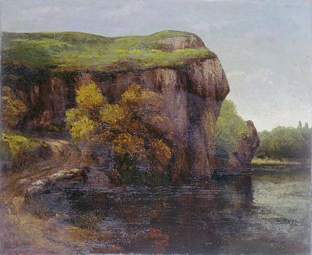 Falaise rocheuse de Gustave Courbet