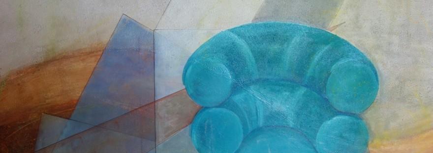 Fauteuil a été peint par Chris Le Guen Artiste Plasticienne Peintre et Sculptrice