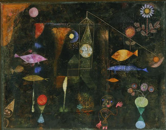 Fish Magic de Paul Klee est un Panneau de 98.4 x 77.1 cm fait en 1925 ©Wikiart