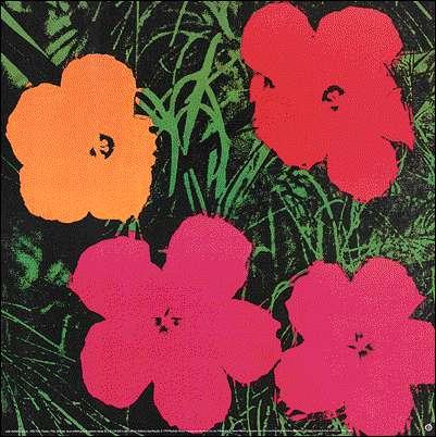 Flowers par Andy Warhol en 1964