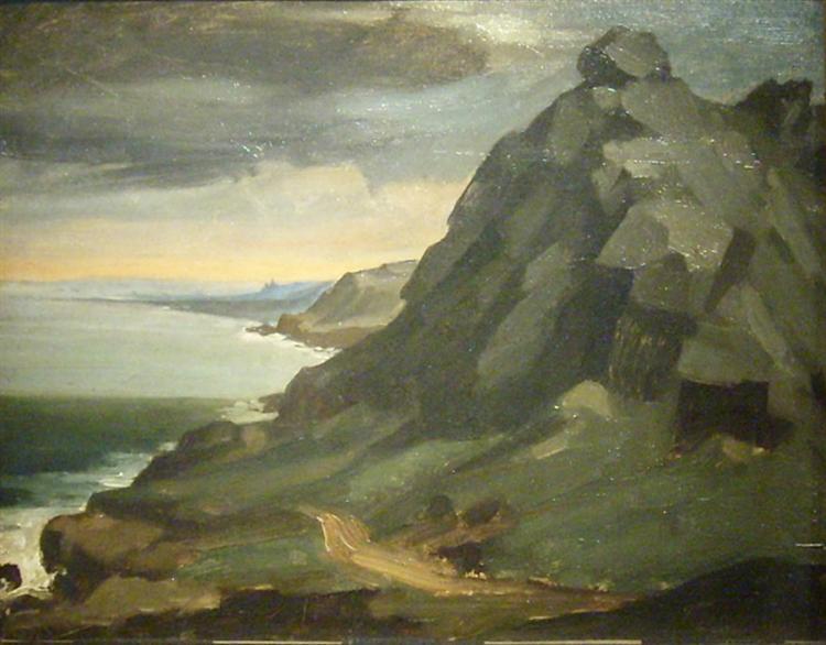 Le rocher du Castel Vendon de Jean-François Millet en 1848