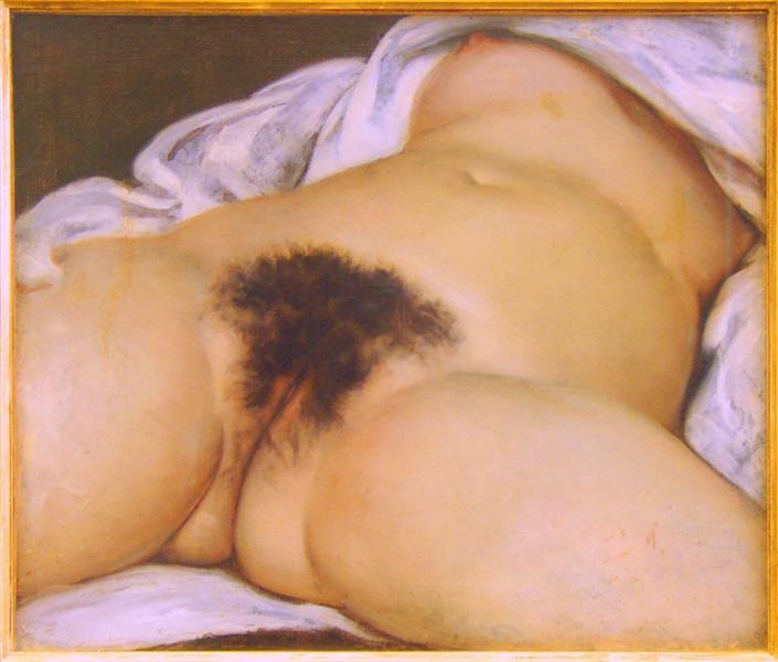 L'Origine du monde de Gustave Courbet est une Peinture à l Huile de 46 x 55 cm faite en 1866 ©Wiki-art