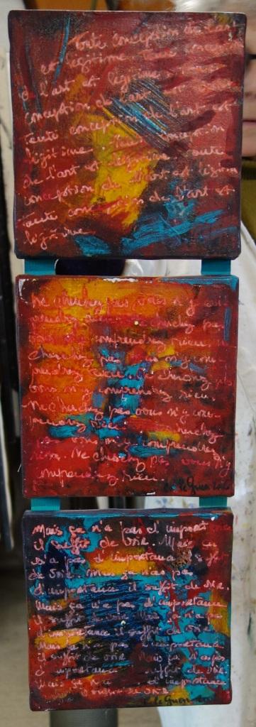 Chris Le Guen Artiste Plasticienne Peintre et Sculptrice a créé et assemblé N°56