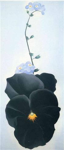 Pansy fait par Georgia O'Keeffe en 1926