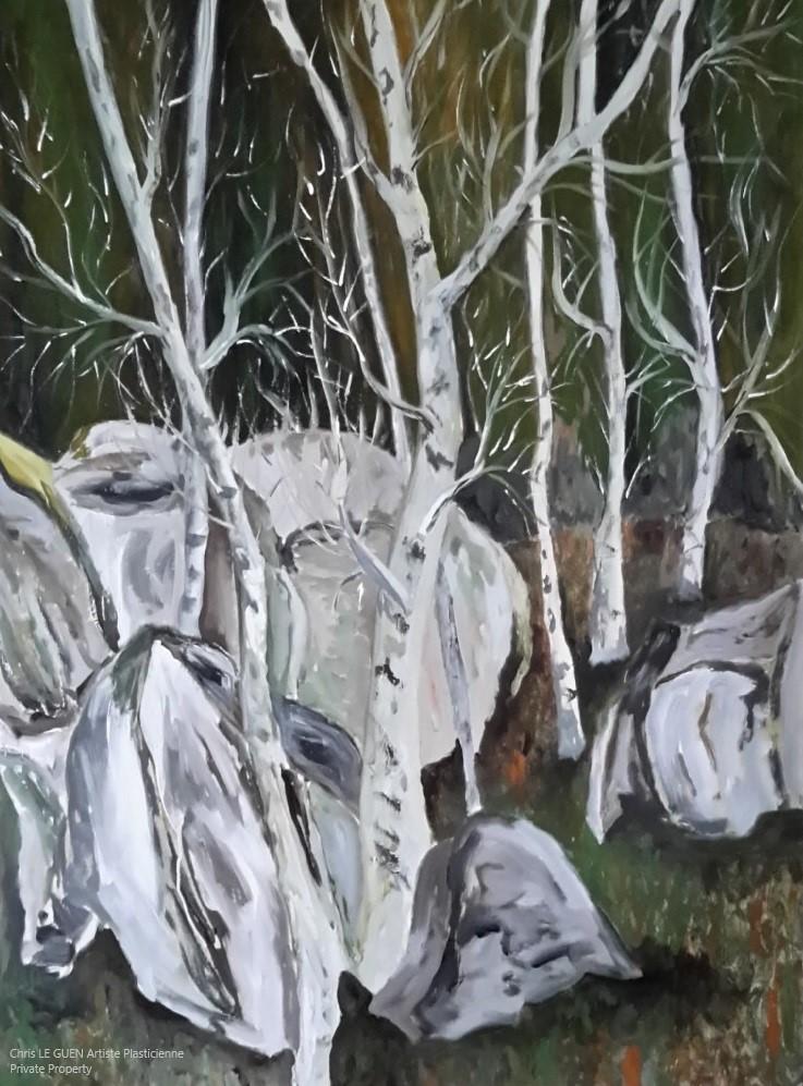 Arbres et Rochers N°2 a été créé par Chris Le Guen Artiste Plasticienne et Sculptrice