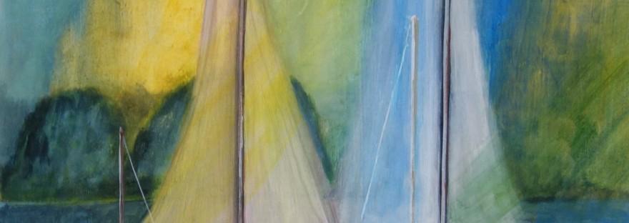 Bateau n°2 a été peint par Chris Le Guen Artiste Plasticienne Peintre et Sculptrice