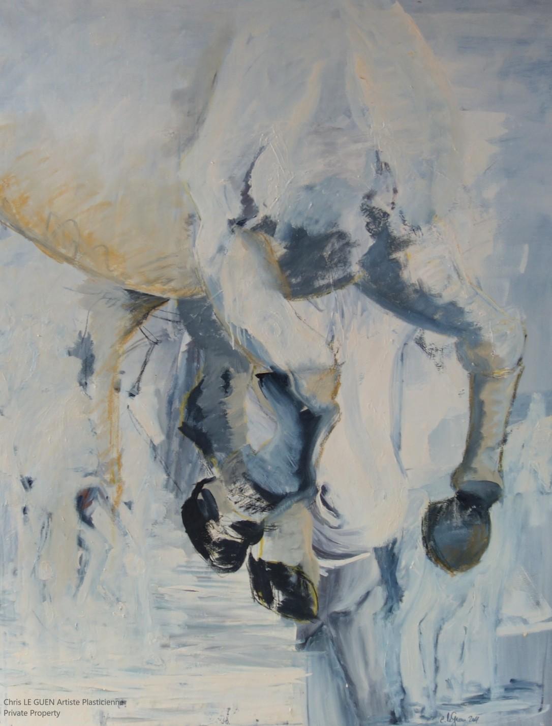 Cheval N°1 peint par Chris Le Guen Artiste Plasticienne Peintre et Sculptrice
