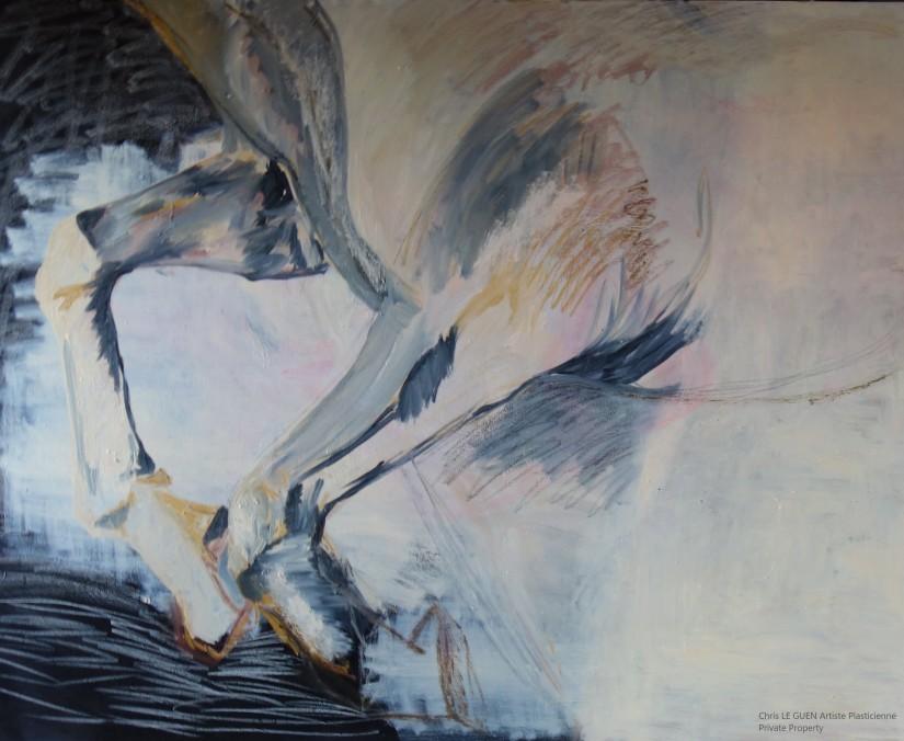 Cheval N°2 fait par Chris Le Guen Artiste Plasticienne Peintre et Sculptrice