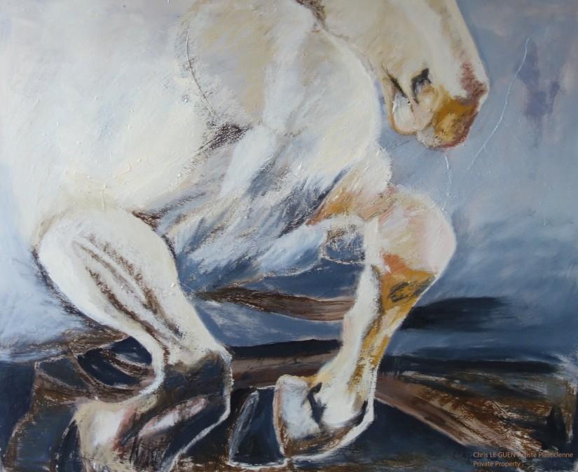 Cheval N°4 bis fait par Chris Le Guen Artiste Plasticienne Peintre et Sculptrice