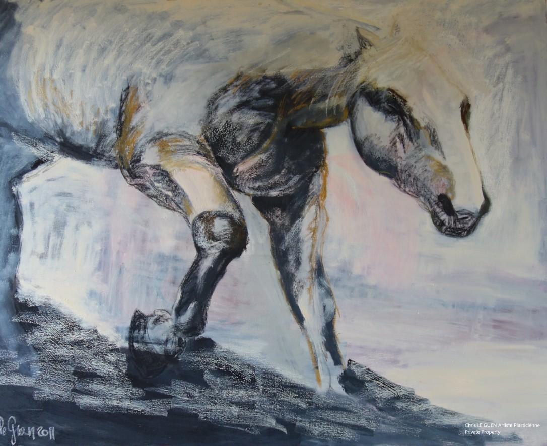 Cheval N°6 par Chris Le Guen Artiste Plasticienne Peintre et Sculptrice