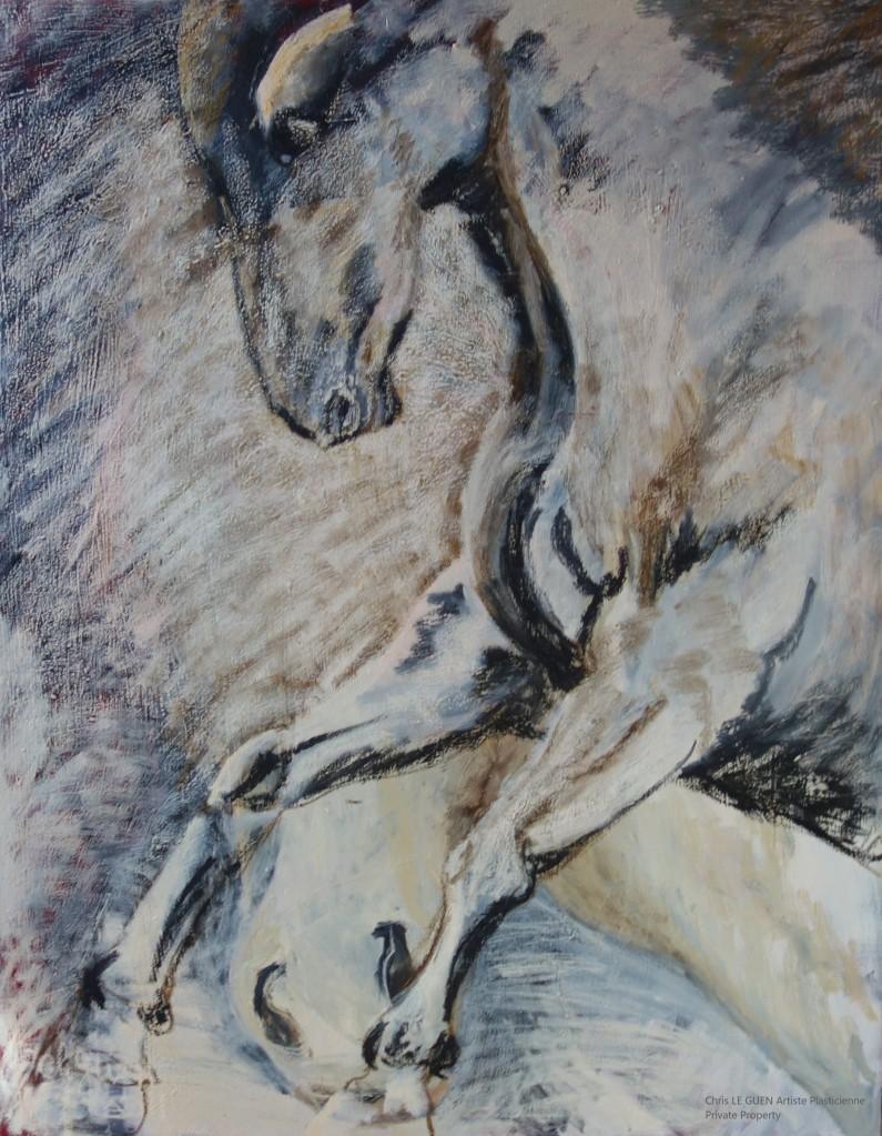 Cheval N°7 a été fait par Chris Le Guen Artiste Plasticienne Peintre et Sculptrice
