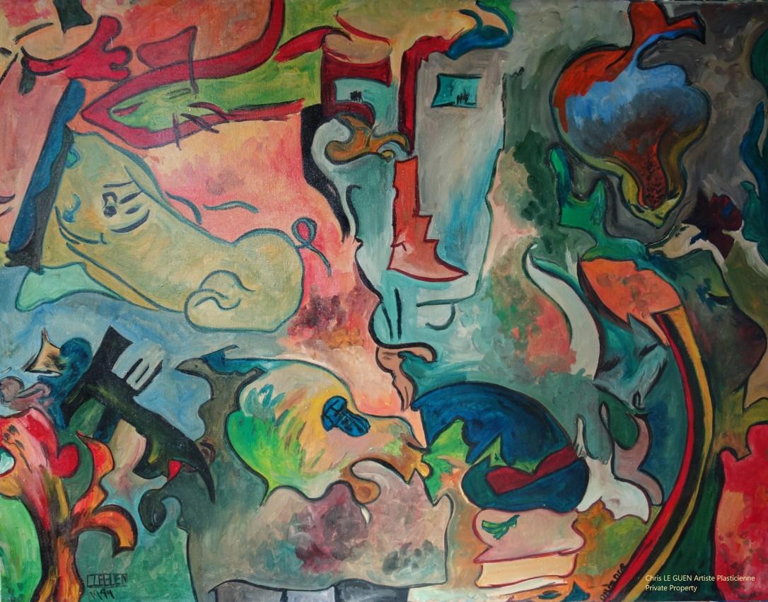 Chris Le Guen Artiste Plasticienne Peintre et Sculptrice a dessiné N°15