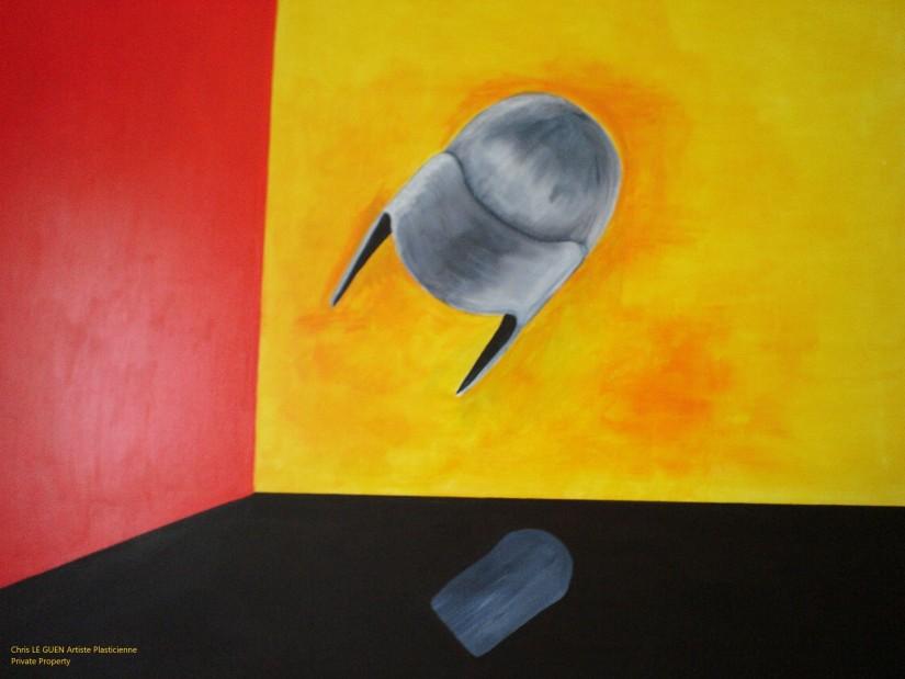 Chris Le Guen Artiste Plasticienne Peintre et Sculptrice peint Corpus Christi