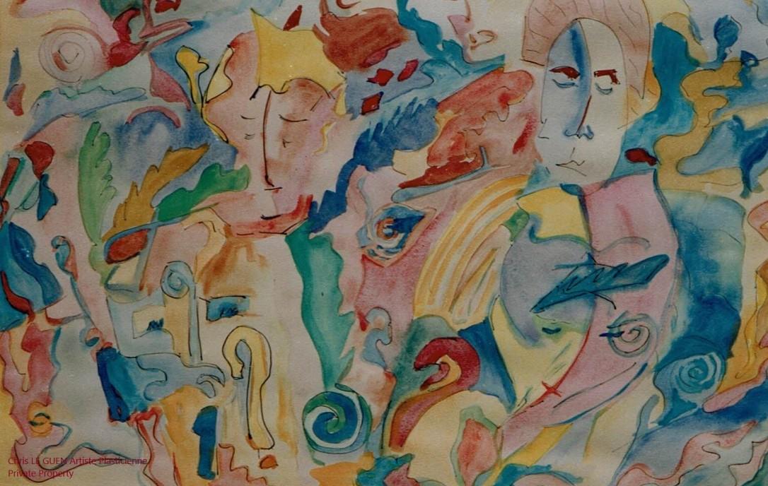 Forme I a été fait par Chris Le Guen Artiste Plasticienne Peintre et Sculptrice