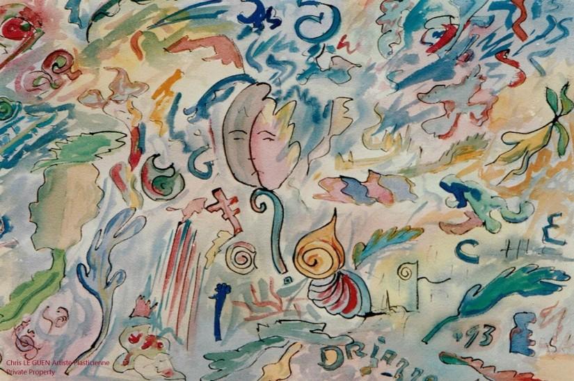 Forme III a été fait par Chris Le Guen Artiste Plasticienne Peintre et Sculptrice