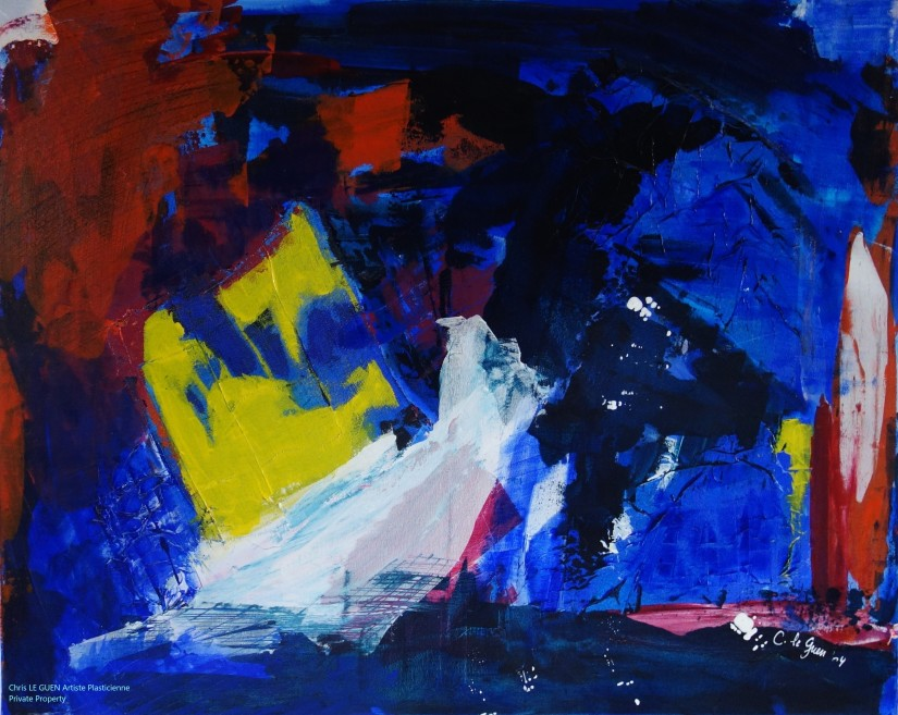 Chris Le Guen Artiste Plasticienne Peintre et Sculptrice a peint N°11