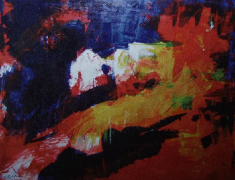 Chris Le Guen Artiste Plasticienne Peintre et Sculptrice a peint N°4