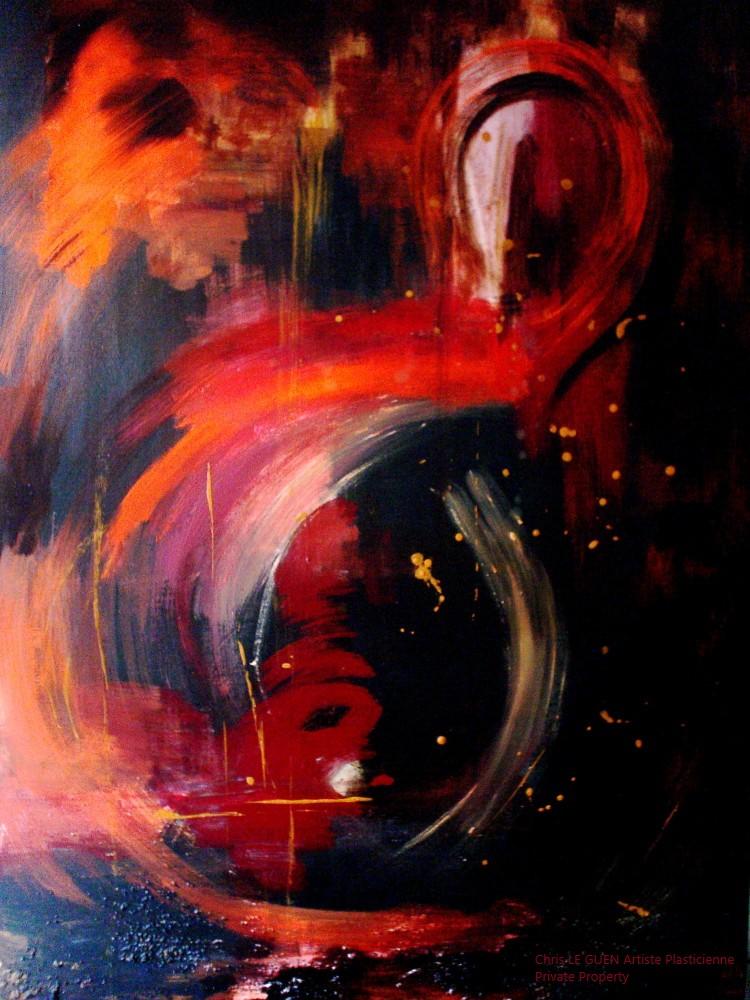 Chris Le Guen Artiste Plasticienne Peintre et Sculptrice a fait Infinity