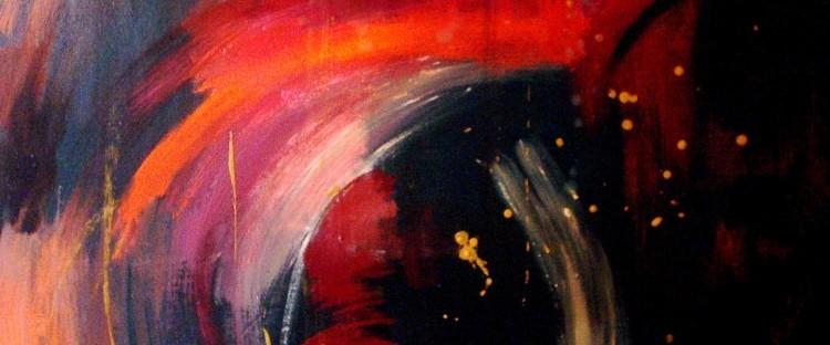 Infinity a été peint par Chris Le Guen Artiste Plasiticienne Peintre et Sculptrice