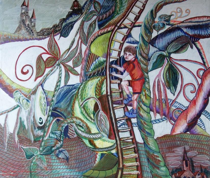 Jacques et le Haricot Magique a été fait par Chris Le Guen Artiste Plasticienne Peintre et Sculptrice