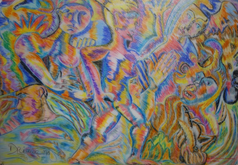 L'Athlète a été peint par Chris Le Guen Artiste Plasticienne Peintre et Sculptrice