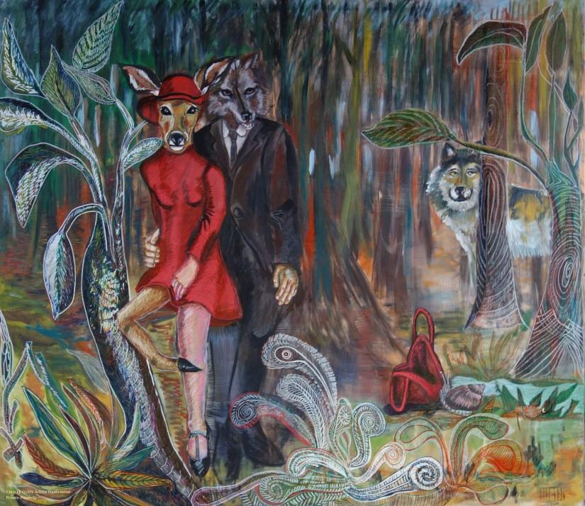 Le Petit Chaperon Rouge a été fait par Chris Le Guen Artiste Plasticienne Peintre et Sculptrice