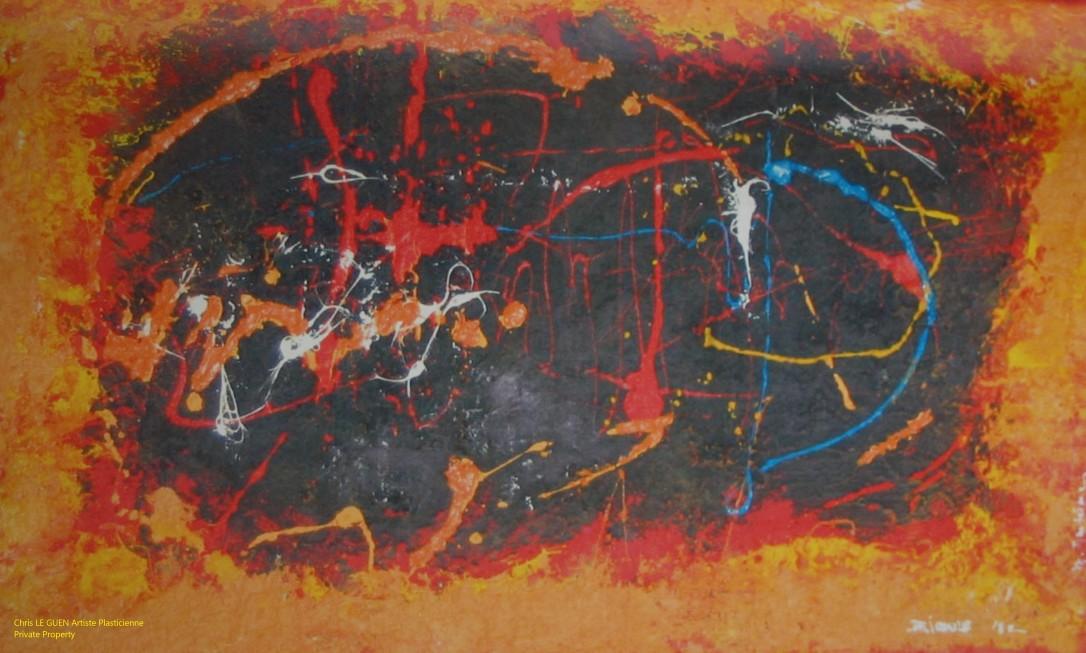 Chris Le Guen Artiste Plasticienne Peintre et Sculptrice peint N°1