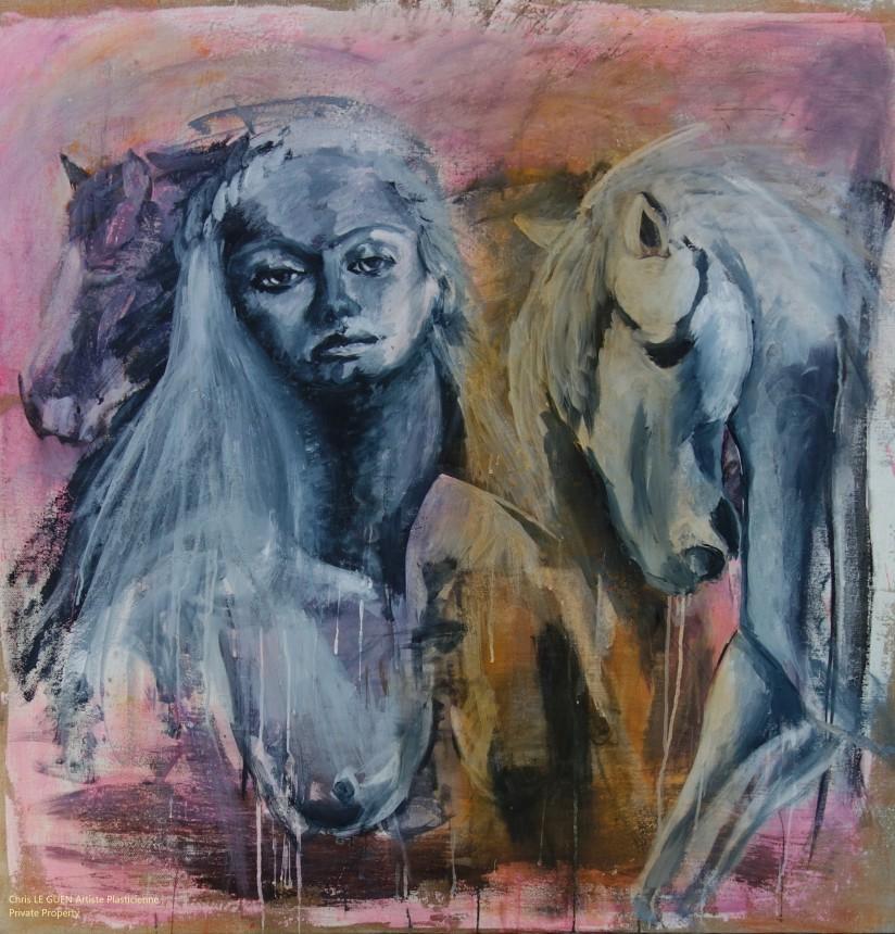 N°1 fait par Chris Le Guen Artiste Plasticienne Peintre et Sculptrice