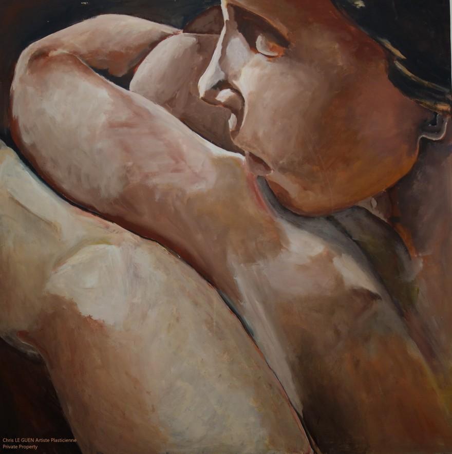 N°1 peint par Chris Le Guen Artiste Plasticienne Peintre et Sculptrice