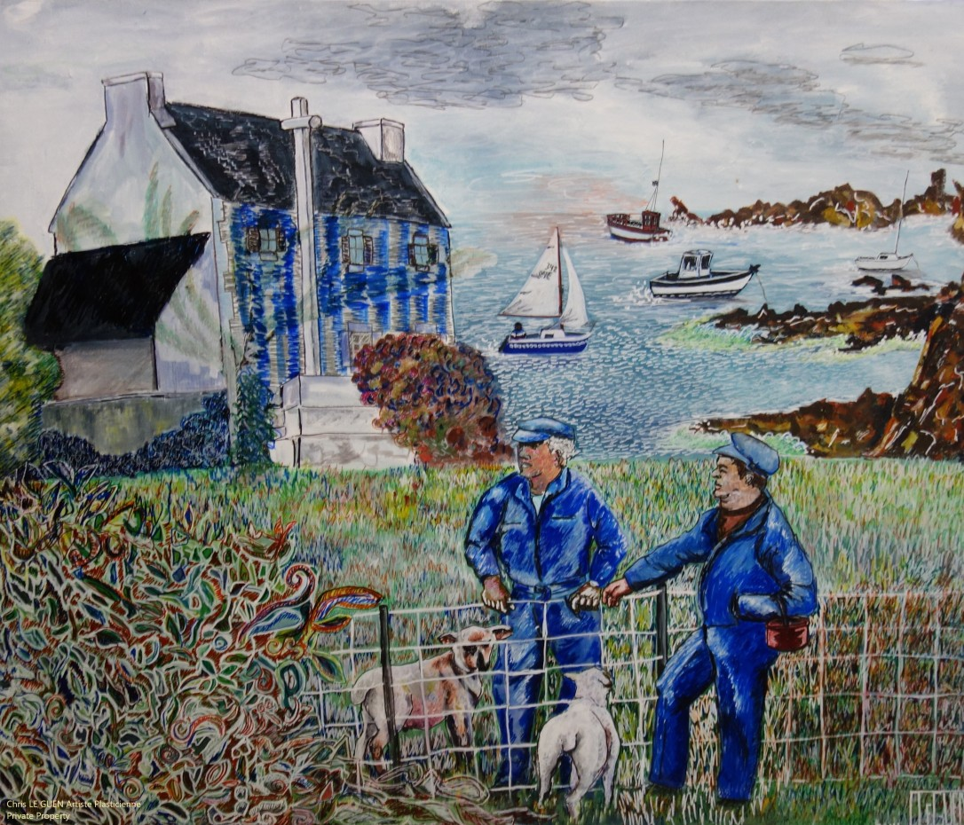 Chris Le Guen Artiste Plasticienne Peintre et Sculptrice a peint N°1