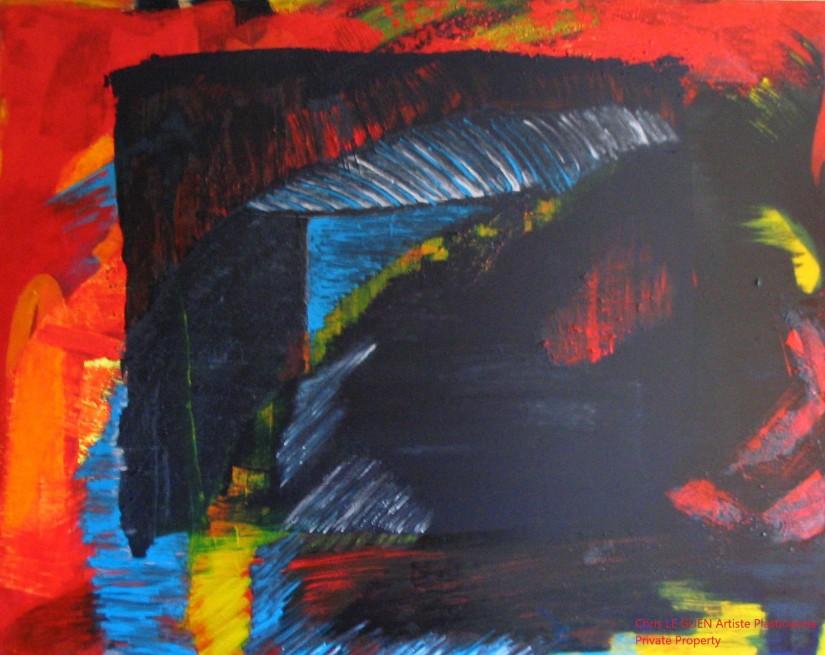 Chris Le Guen Artiste Plasticienne Peintre et Sculptrice peint N°12