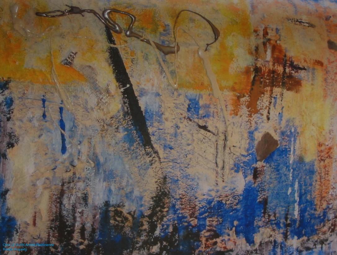 Chris Le Guen Artiste Plasticienne Peintre et Sculptrice peint N°13