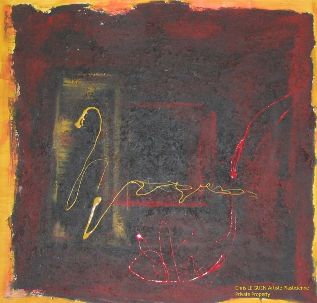 Chris Le Guen Artiste Plasticienne Peintre et Sculptrice peint N°14