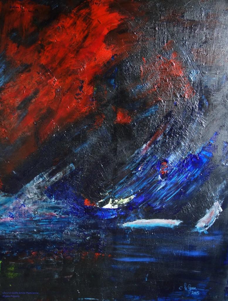 N°15 peint par Chris Le Guen Artiste Plasticienne Peintre et Sculptrice