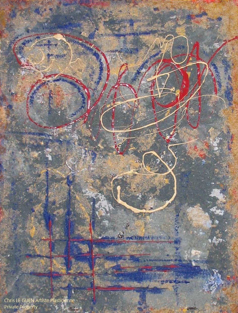 Chris Le Guen Artiste Plasticienne Peintre et Sculptrice peint N°15