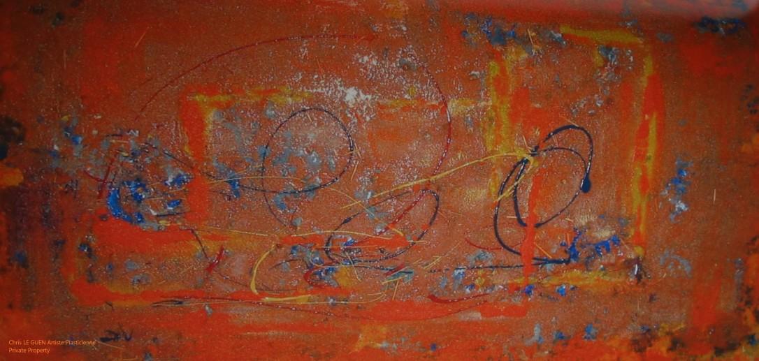 Chris Le Guen Artiste Plasticienne Peintre et Sculptrice peint N°17