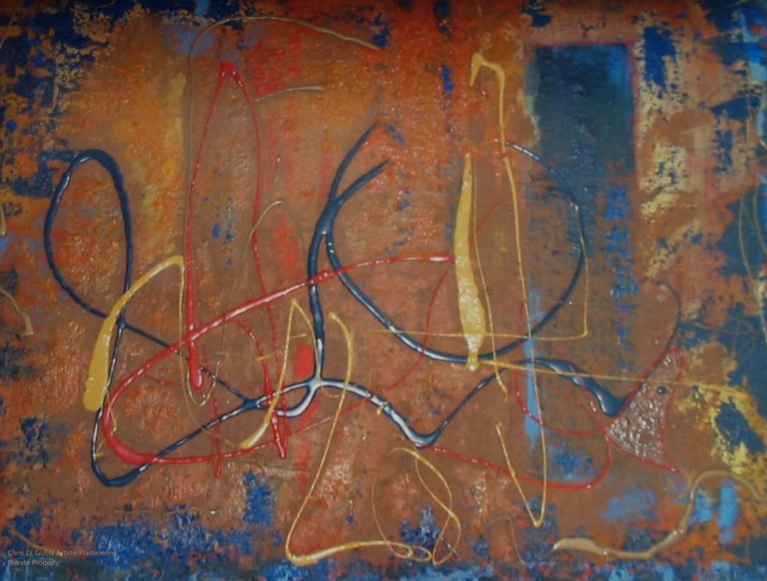 Chris Le Guen Artiste Plasticienne Peintre et Sculptrice peint N°20