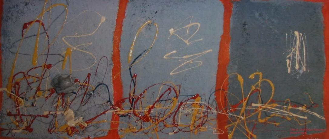 Chris Le Guen Artiste Plasticienne Peintre et Sculptrice peint N°21