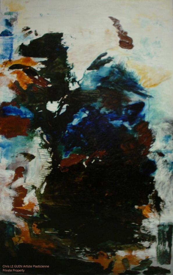 Chris Le Guen Artiste Plasticienne Peintre et Sculptrice peint N°22