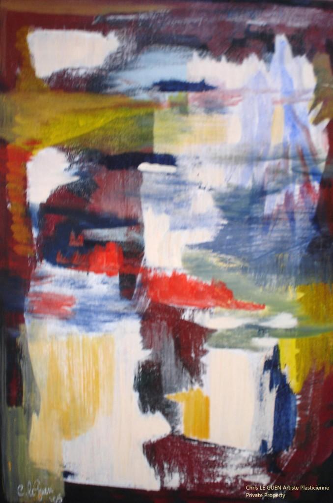 Chris Le Guen Artiste Plasticienne Peintre et Sculptrice peint N°22 b