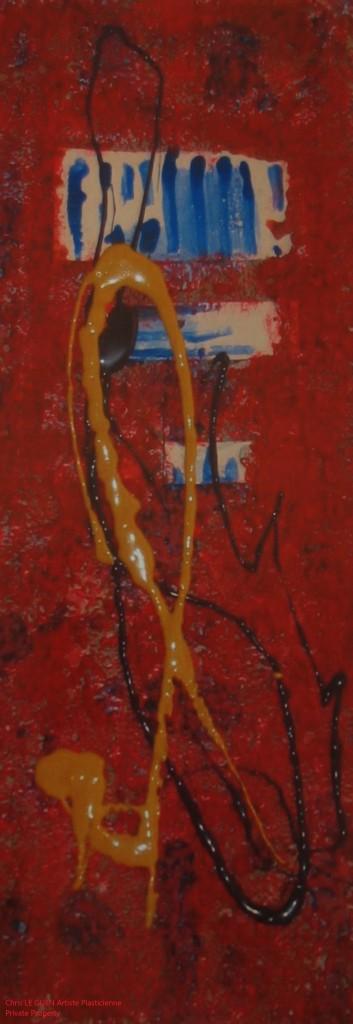 Chris Le Guen Artiste Plasticienne Peintre et Sculptrice peint N°23