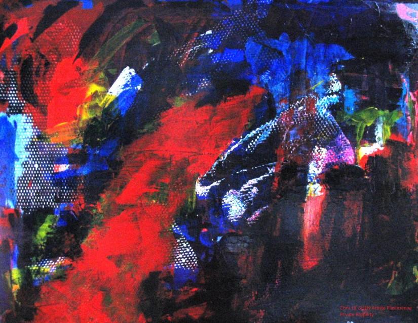 Chris Le Guen Artiste Plasticienne Peintre et Sculptrice a peint N°23