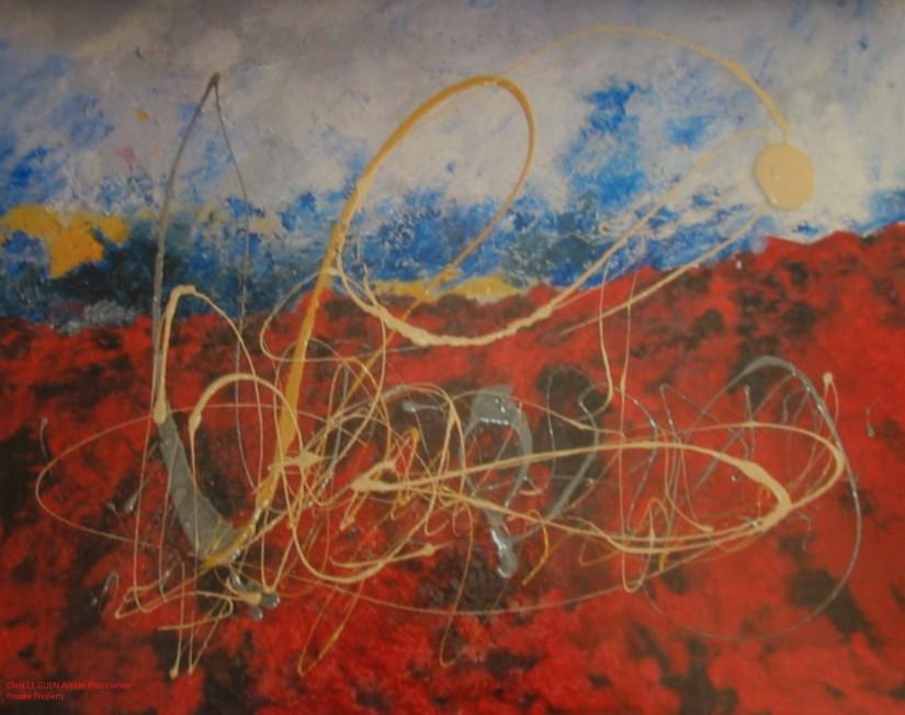 Chris Le Guen Artiste Plasticienne Peintre et Sculptrice peint N°24