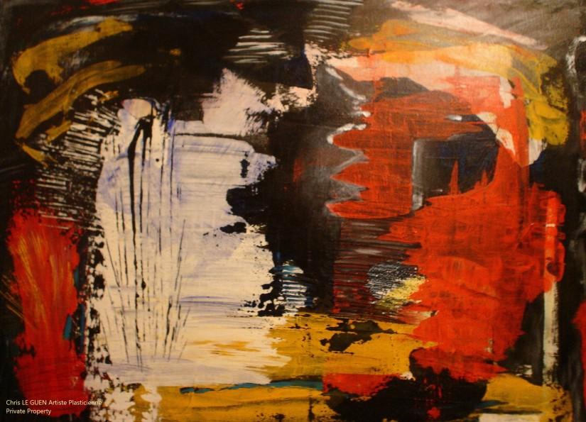 Chris Le Guen Artiste Plasticienne Peintre et Sculptrice peint N°25