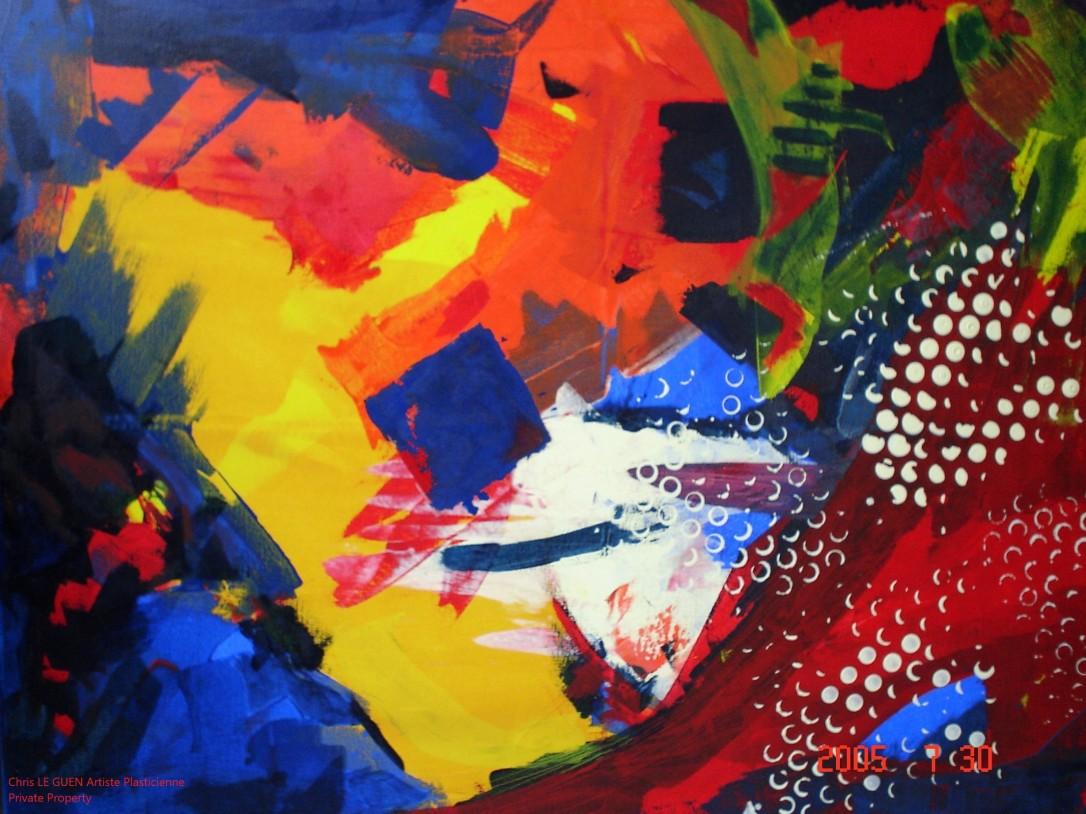 Chris Le Guen Artiste Plasticienne Peintre et Sculptrice a peint N°26
