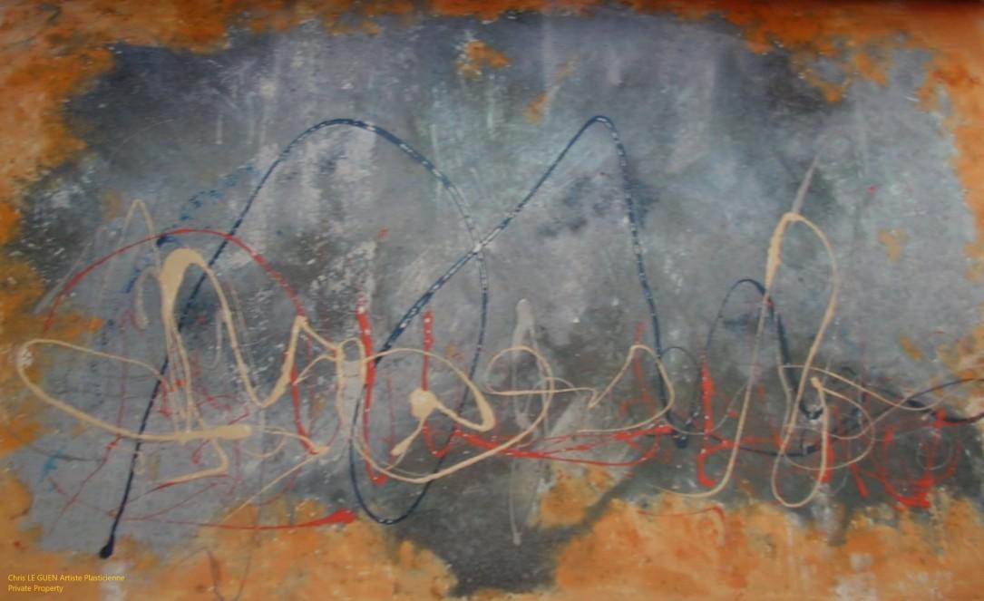 Chris Le Guen Artiste Plasticienne Peintre et Sculptrice peint N°27