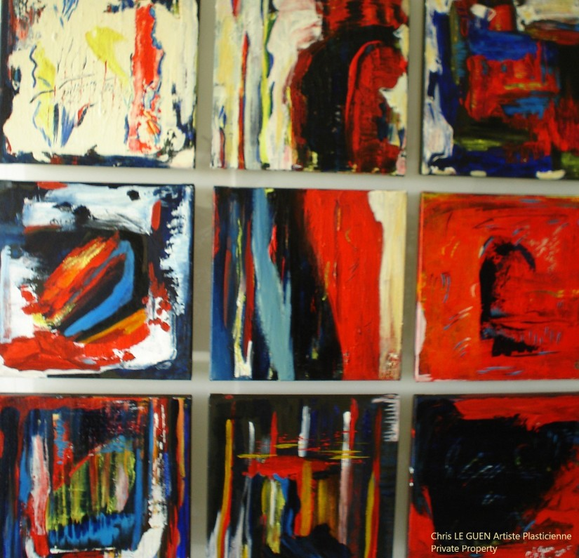 Chris Le Guen Artiste Plasticienne Peintre et Sculptrice peint N°28